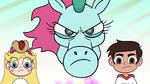 S2E13 Pony Head glaring angrily at Roy