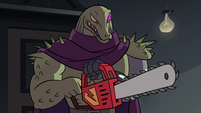 S2E18 Rasticore has trouble starting his chainsaw