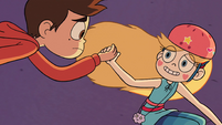 S2E5 Star Butterfly holding Marco's hand