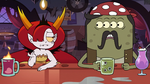 S3E22 Four-eyed monster sits next to Hekapoo
