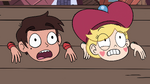 S4E2 Star and Marco looking frightened