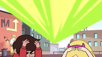 S2E14 Star and Marco duck under Ludo's blast