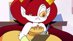 S3E11 Hekapoo writing on a clipboard