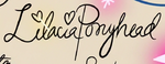 S3E20 Lilacia Pony Head's signature