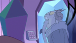 S2E34 Rhombulus looking at frozen Lekmet