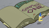 S2E35 Glossaryck opens the book to Chapter One