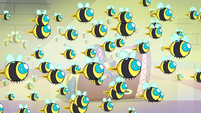 S3E37 Honeybees flying toward Marco