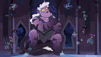 S3E38 Meteora sitting on the throne of Mewni