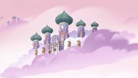 S4E25 Exterior view of Pony Heads' Cloud Kingdom