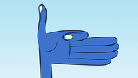 S1E11 Glossaryk holding out his hand