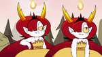 S3E37 Hekapoo and her clone shrugging