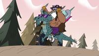 S3E37 Talon and Pony Head ride toward Meteora