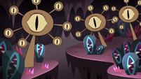 S4E13 Giant stalks with eyeballs in the Underworld