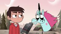S3E37 Pony Head with a mascara horn