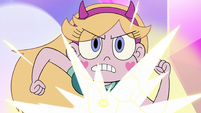 S3E23 Star Butterfly starting to transform