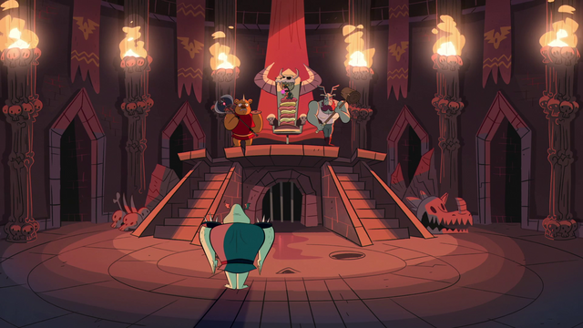File:S1E3 Ludo and Buff Frog in the throne room.png