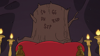 S3E25 Ceremonial stump in Butterfly Castle ballroom