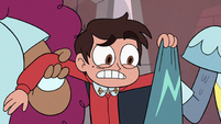 S3E14 Marco Diaz looking shocked at his cape