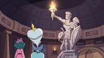 S3E28 Moon and Eclipsa find a stone statue