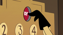S2E25 Sean presses the elevator button for the top floor