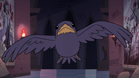 S4E15 Crow suddenly flies out of the darkness