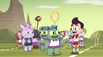 S4E16 Mewman and monster kids shake hands