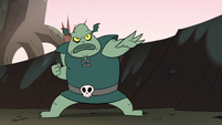 S2E12 Buff Frog in a battle-ready pose