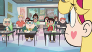 S2E32 Star staring blankly at her fellow students
