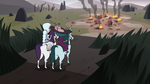 S3E36 Moon and Eclipsa find destroyed village