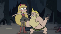 S3E27 King River picks leeches off of Star's dress