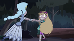 S3E5 Star Butterfly pulling her mother to hide
