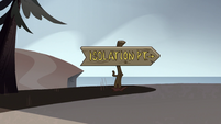 S1E6 Isolation Point road sign