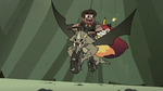 S3E22 Adult Marco and Hekapoo riding Nachos
