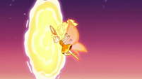 S3E22 Mewberty Star flying through another portal