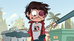 S1E7 Random dude points at Marco's shirt