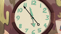 S2E11 Clock reads four minutes to six o'clock