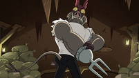 S2E20 Meat Fork flexing his muscles