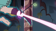 S3E24 Magic ribbon ties around Mina's leg