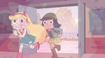 S2E16 Star and Janna run through the pink smoke