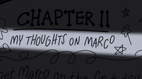 S2E1 Star's journal 'my thoughts on Marco'