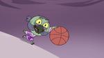 S4E14 Ludo dribbling the basketball