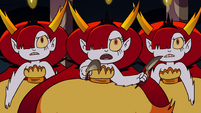 S2E41 Hekapoo directs her clones to attack Ludo-Toffee