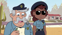 S4E29 Police officer asks about the helicopter