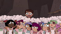S4E2 Marco looking over the Pie Folk crowd