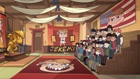 S2E37 Echo Creek Dojo decorated with Jeremy's face