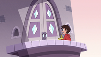 S3E4 Marco alone on the Butterfly Castle balcony