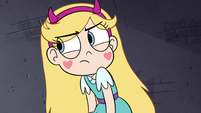 S4E35 Star Butterfly looking bitter at Moon