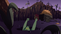 S2E20 Buff Frog falls into one of the mine holes