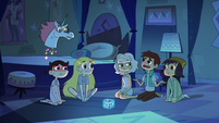 S2E17 Marco asks Pony Head what her favorite color is