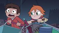 S3E15 Higgs crashing her cart against Marco's cart